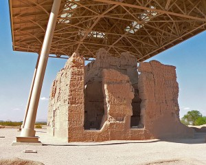 A protective cover over Casa Grande ruins. (Photo Credit: Greg Hume)
