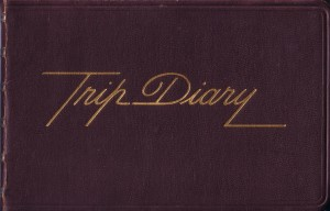"My very first ""Trip Diary"" in 1975"