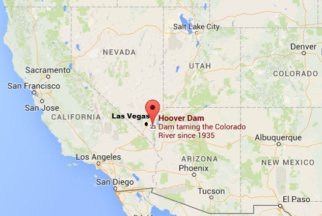 Hoover Dam (built 1931-1935) is about a 45-minute drive from Las Vegas.