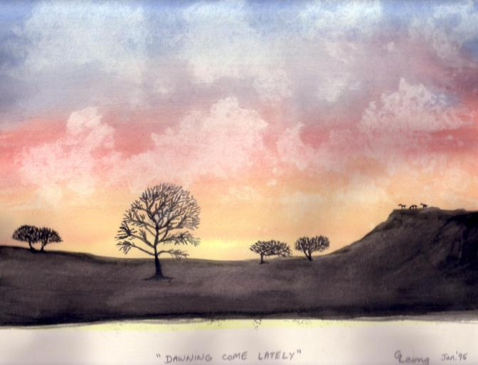 DawningComeLately-Watercolor-Jan1995
