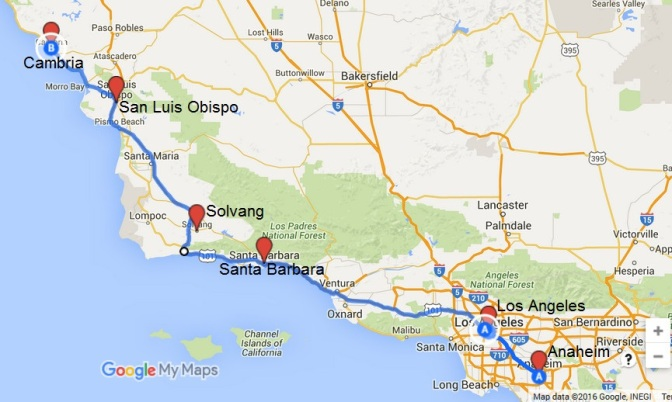 map-LA-SantaBarbara-Solvang-SanLuisObispo
