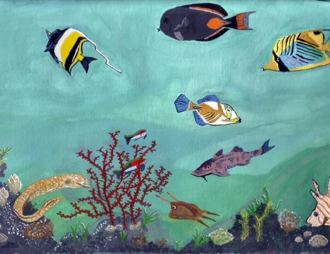 MarineFish-Watercolor-1993-A