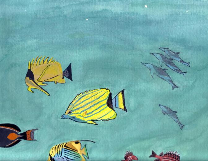 MarineFish-Watercolor-1993-C