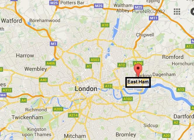 Map-East Ham