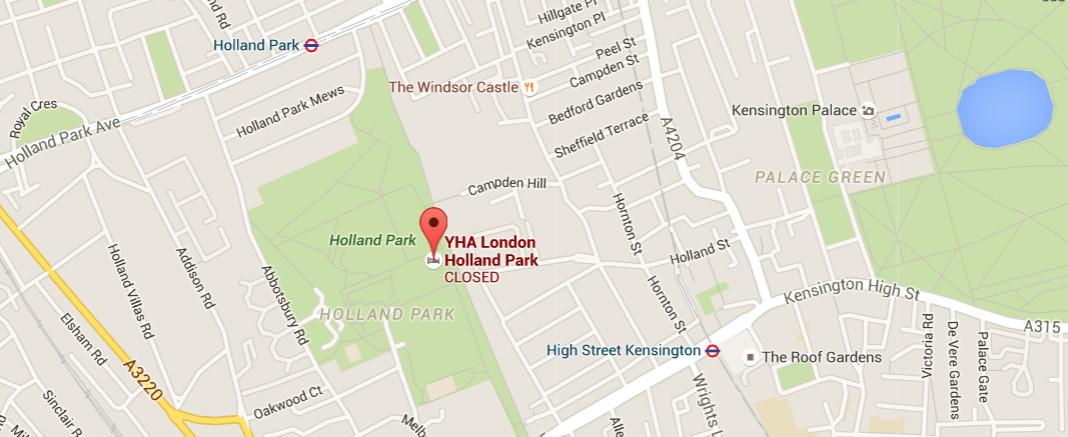 Holland Park in Kensington, London (c) 2016 Google