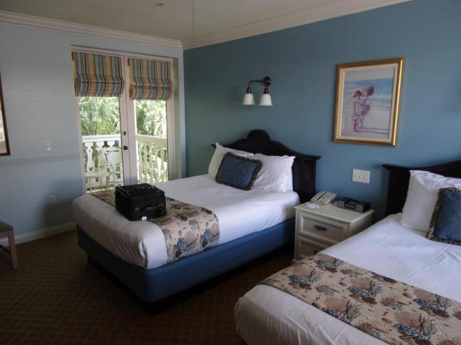 The spacious studio rooms (390 SFT) include two queen-sized beds and a small balcony or lanai.