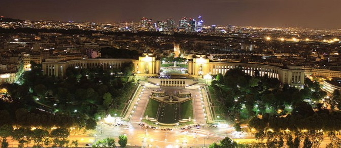 Palais de Chaillot at night (Photo credit: Omar David Sandoval Sida)