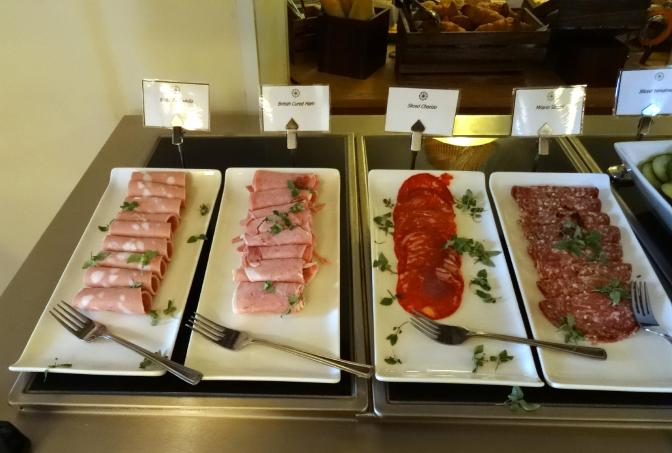 (L to R): Sliced Mortadella, British Cured Ham, Sliced Chorizo, Milano Salami