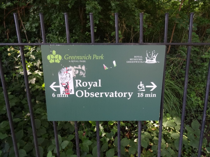 Royal Observatory path sign
